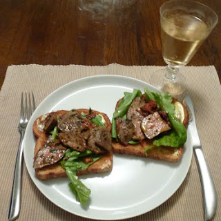 Pan-fried Duck Livers On Wholemeal Toast.