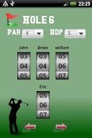 Screenshot of Golf Scorer