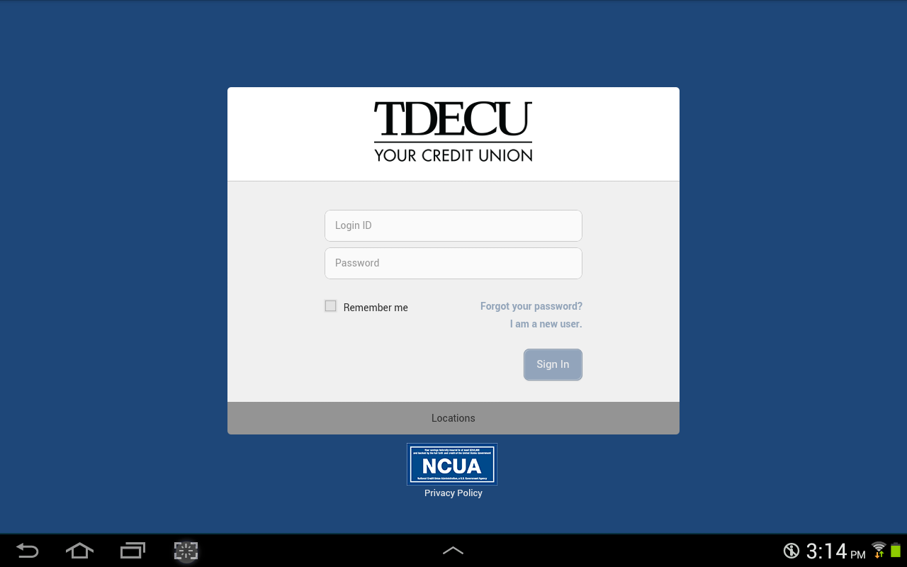 TDECU- screenshot