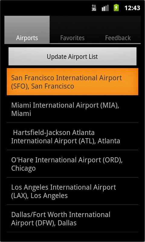 Airport Monitor Free - screenshot