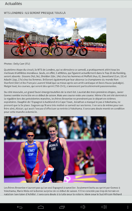 Triathlete Magazine- screenshot