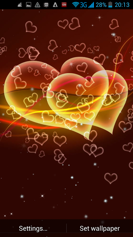 Download The Free Love Heart Sky Live Wallpaper App To Your Android ...