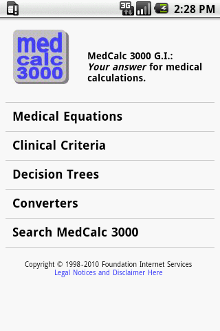 MedCalc 3000 G.I. - screenshot