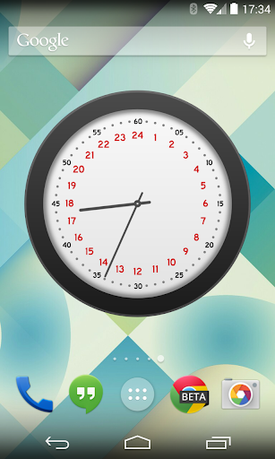 Topper 24 Hour Analog Clock