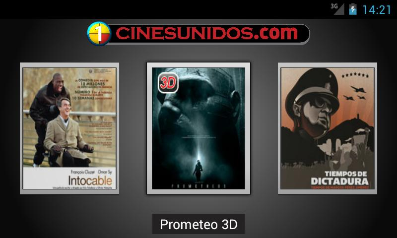 Cines Unidos- screenshot