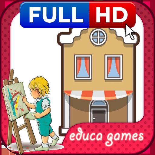 着色比赛:主场 教育 LOGO-玩APPs
