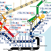 Istambul Rail Network Map HD
