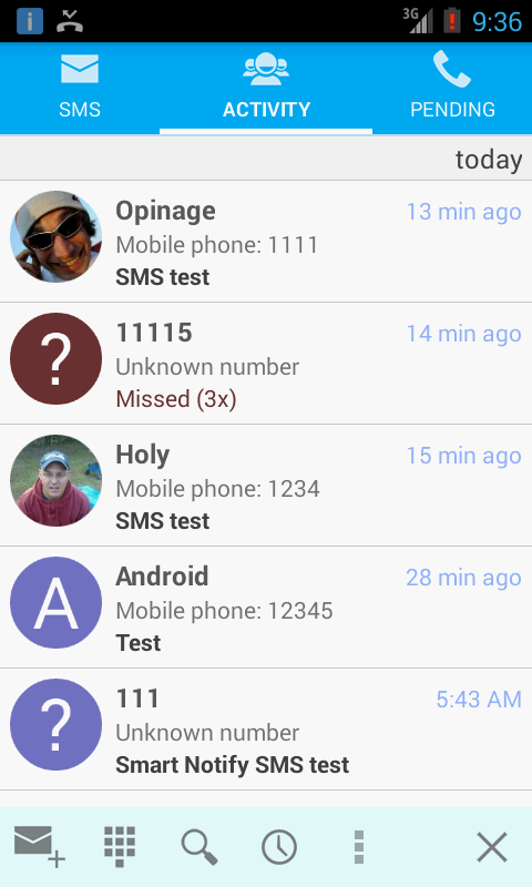 Smart Notify - SMS and calls- screenshot