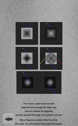 Lazersパズル。穴に着色光線