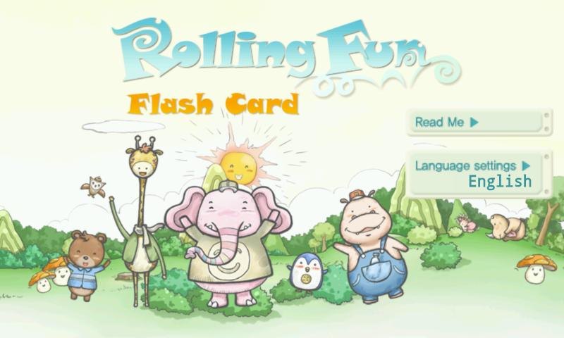 Rolling Fun Flash Card - screenshot
