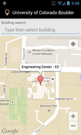 Campus Map for CU Boulder