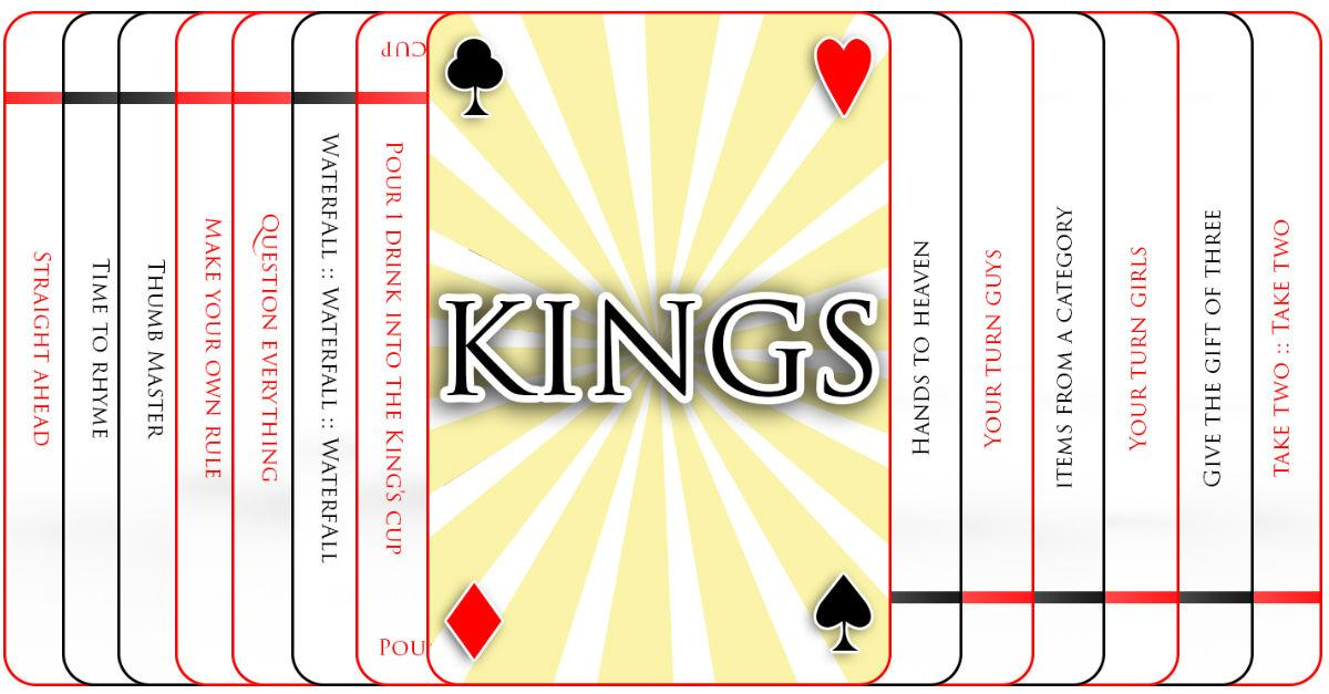 drinking games with cards kings