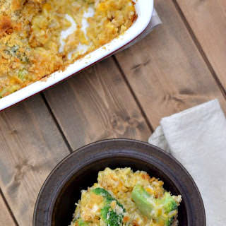 Savory Cheesy Chicken Broccoli Rice.