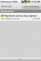 Screenshot of FlipSilent