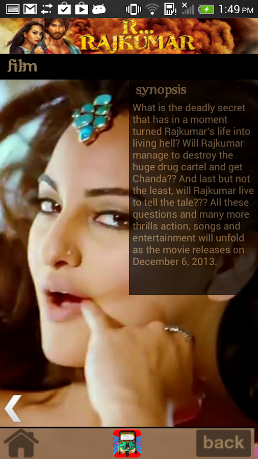 Bollywood Movie App R Rajkumar - screenshot
