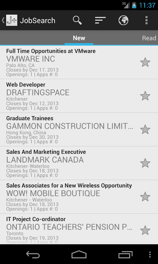 Jobmine Plus Mobile- screenshot