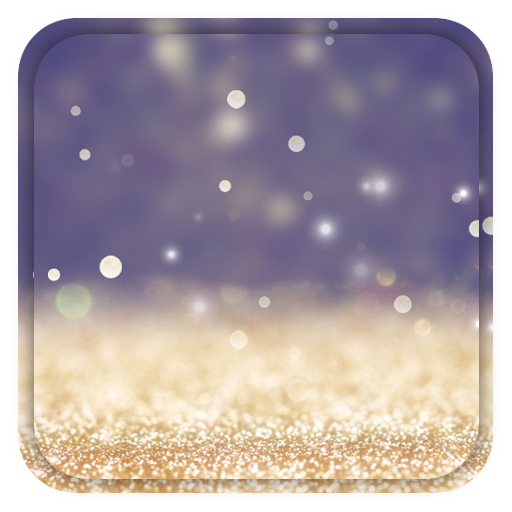 Gold Glitter Live Wallpaper Icon