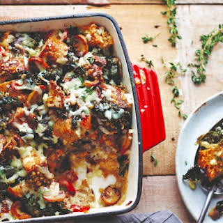 Vegetable And Cheddar Strata.