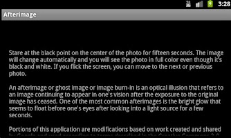 Screenshot of Afterimage Illusion