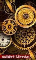 Screenshot of FREE Gold Clock Live Wallpaper