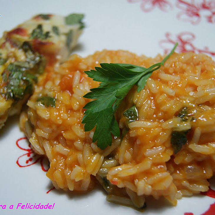 Pumpkin and Pennyroyal Rice with Baked Hake Loins