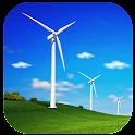 Wind turbines - meteo station icon