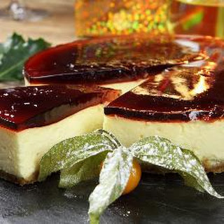 Cranberry And Apple Baked White Chocolate Cheesecake