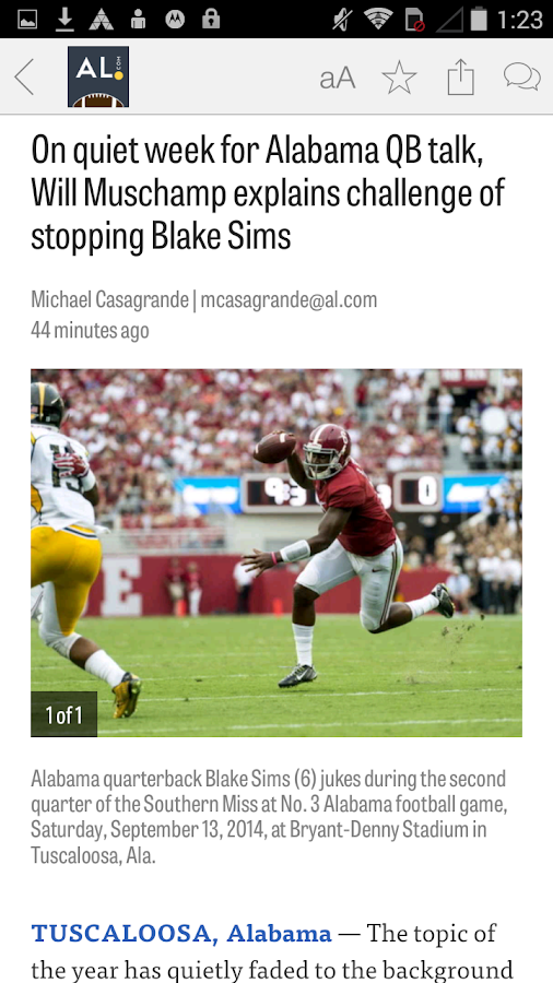 AL.com: Alabama Football News - screenshot