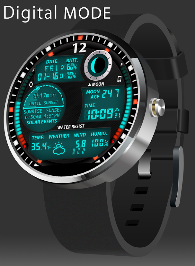 A47 Watch face for Moto 360
