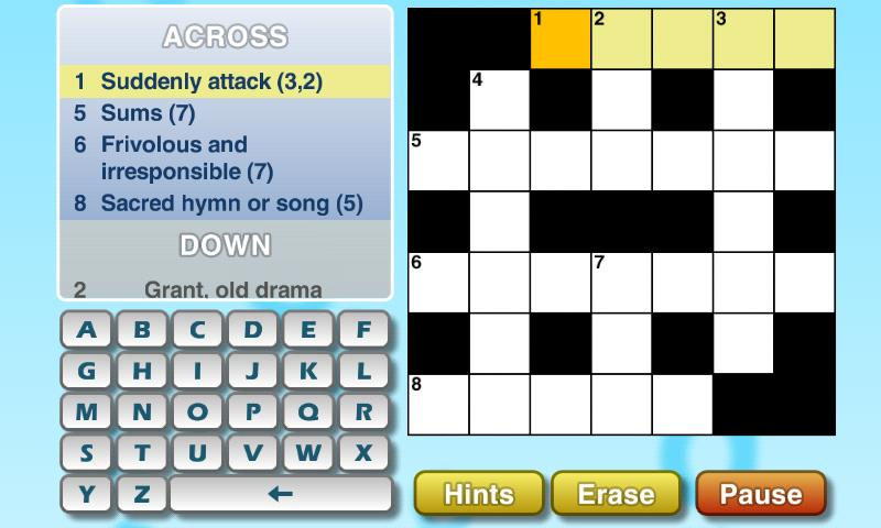 Puzzler Crossword - screenshot