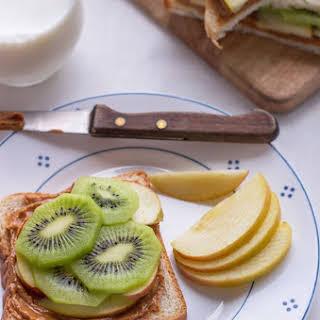 Apple Kiwi Peanut Butter Sandwich.