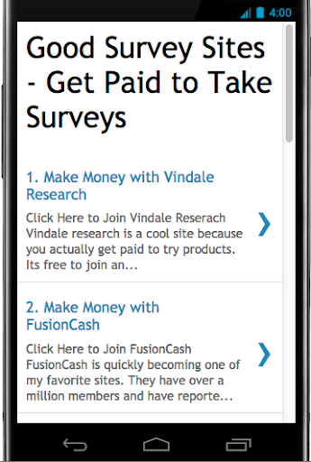 Paid Surveys Surveys For Money