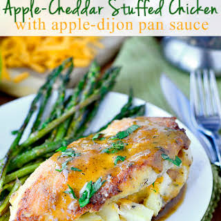 Apple-Cheddar Stuffed Chicken with Apple-Dijon Pan Sauce.
