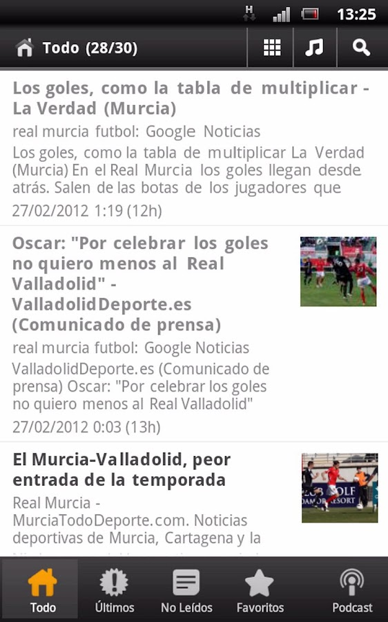 Real Murcia News - screenshot