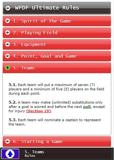 Ultimate Rules WFDF- screenshot