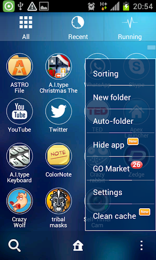 玩免費個人化APP|下載ネオンブルーGOランチャーのテーマ app不用錢|硬是要APP