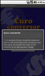 Euro conversor pro - screenshot thumbnail