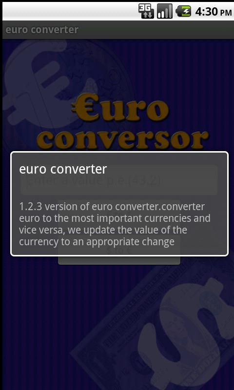 Euro conversor pro - screenshot