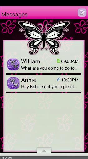 PinkFlower GO SMS THEME