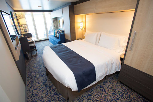 Quantum-of-the-Seas-Superior-Oceanview-2350 - A Superior Oceanview stateroom on Quantum of the Seas. On average, staterooms on the ship are 9 percent larger than those on Royal's Allure and Oasis.