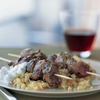 Greek Lamb Kabobs.