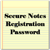 Reg. PW for Secure Notes