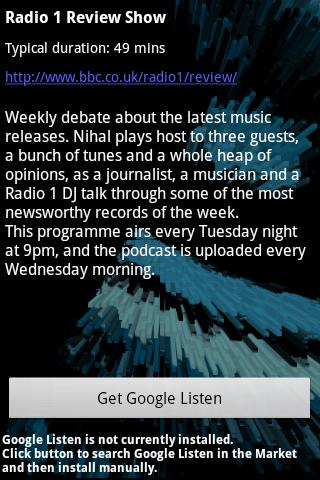 BrowseCast BBC Podcast Browser - screenshot