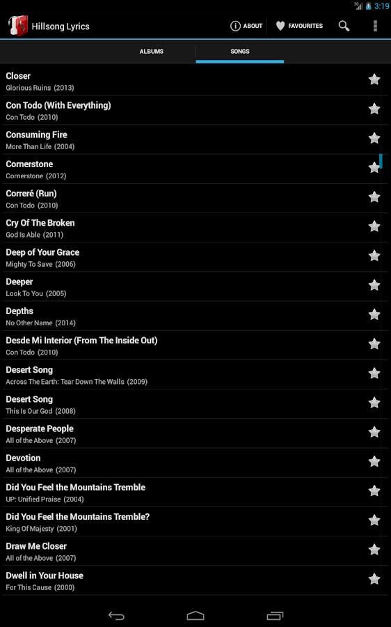Lyric i want this more than life lyrics : Hillsong Lyrics - Android Apps on Google Play