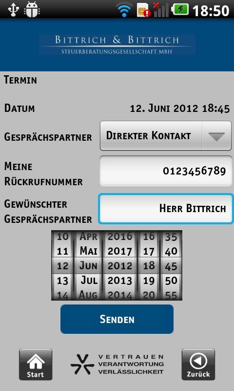 Bittrich Steuerberater App – Screenshot
