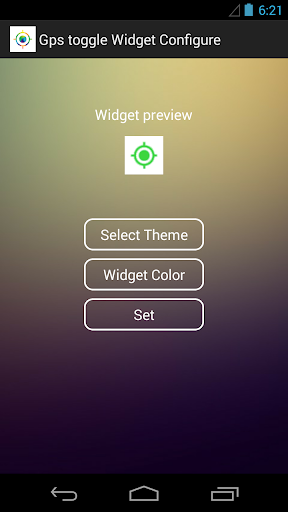 Gps toggle Widget