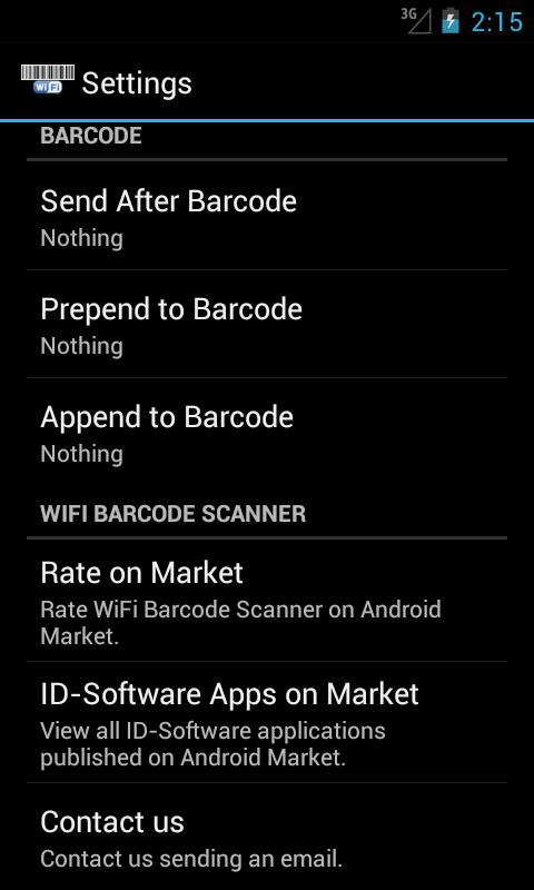 WiFi Barcode Scanner - screenshot