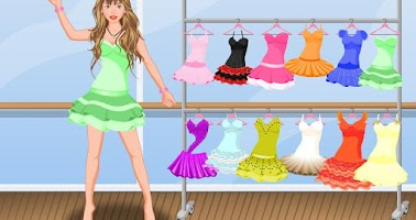Screenshot of Ballet dancer girls dressup
