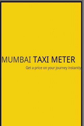 Mumbai Taxi Meter Latest Card