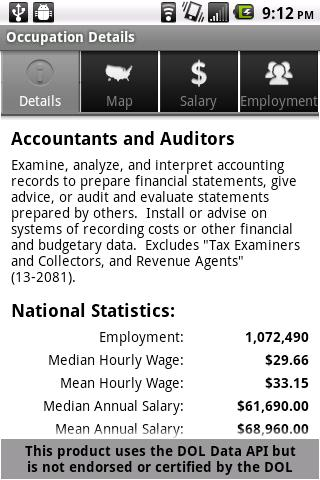 Labor Wage Statistics- screenshot